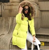 long down coat - 2015 winter women jacket long down Coat super large collar parka coat cloak plus size thick Nagymaros collar down jacket