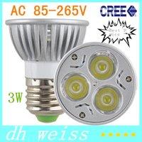 Wholesale 1pcs High Power Led lamp W GU10 E27 GU5 AC85 V Led Spot light Spotlight Led Bulb Cold Warm White