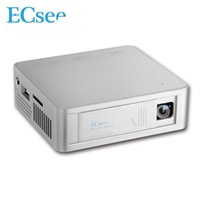 Wholesale ECsee ES130 X480 Full HD1080P DLP LED Projector lumens Household Mini Portable Projector Input USB TF HDMI AV