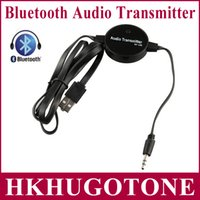 Wholesale DHL mm Stereo HiFi Speaker Audios Adapter Bluetooth Wireless FM Transmitter Music Player output to mobile phone MP3 MP4 PC