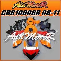 aftermarket plastics - Addmotor Injection Mold Aftermarket Fairings Fit Honda CBR1000RR CBR RR Body Kit Orange Blue H1811 Five Free Gifts
