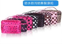 Wholesale 10 Women Dot Beauty Case Makeup Set Large Cosmetic Tool Storage Toiletry Bag Portable Travel Bags hand bag