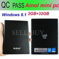 Wholesale Ainol Mini PC Windows OS GB RAM GB ROM Intel Btry Z3735F mAh HDMI port Mini Computer PC for office with Bluetooth