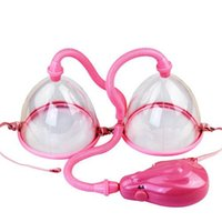 breast care equipment - Breast Pump Enlarge With Twin Cups New Design for Breast Enlargement Electric Air Pump Machine Bust Massager Breast Care Equipment PJ2301