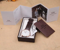 Wholesale Daniel Wellington DW Luxury brands Watches With BOX Men Watch Top Brand Genuine Leather Nylon Strap Fashion Quartz Styles Colors