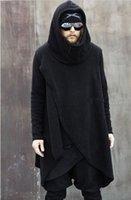 asymmetrical hoodie men - Men s Fashion Turtleneck Irregular Asymmetrical Design Warm Soft Fleece Casual Long Hoodies Sweatshirt Autumn Winter Superb