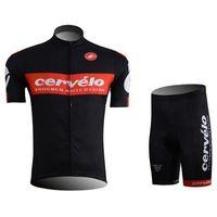 Wholesale 2015 cervelo team cycling jerseys hot sale black color short sleeve mountain road clothing mens bike wear size xs xl