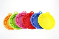 Wholesale 50 dogs dog shop pet supplies Pet Dog Cat Fashion Silicone Collapsible Feeding Water Feeder Travel Bowl Dish