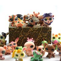 Wholesale 30pcs Littlest Pet Shop Anime Cute Animals Q Pet Shop inch Action Figure Collection Toys Scale Models Brinquedos For Children