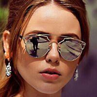 retro sunglasses - So fashion real metal frame sunglasses women brand designer retro vintage sunglasses cat eye glasses famous brand sun glasses