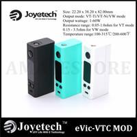 Wholesale Original Joyetech eVic VTC Mini W VW TC Mod eVic VTC Mini Temperature Control Ecigarette Mods VS Kbox Mini Kanger Subox