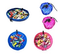 Portable Enfants Enfants Infant tapis de jeu pour 150cm de grands sacs de stockage Jouets Organisateur Blanket Boîtes Tapis Facile