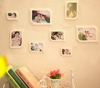 Wholesale 8pcs new year home decoration photo frame marcos de fotos picture frame porta retrato quadros quadros de parede moldura
