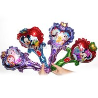 Wholesale Frozen princess with Stick Foil Balloons Anime Cartoon Toys Baby Birthday Party Decoration Christmas Children s gift