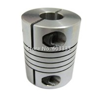 Wholesale 50PCS Mini mm to mm Flexible Shaft Coupling x6 mm Flex Clamp Shaft Coupler Connector Diameter mm Length mm