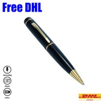 Wholesale Free DHL P Mini Pen Hidden Spy Camera TF Card Mini Pen HD DVR Cam AVI Format Pen Spy Camcorder Video Recorder HS