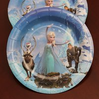 Wholesale 100pcs cm Diameter Paper Plate Princess Design Wedding Party Cartoon Cake Dish wd900