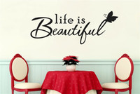 beautiful people quotes - Life Is Beautiful Vinyl Quotes Wall Stickers Art Decals for Home Decor