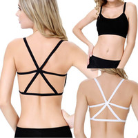 Wholesale New Lady Women Cross Strap Padded Backless Wrapped Chest Tank Crop Top Blouse Dave