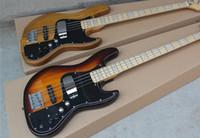 Wholesale Nature Wood Color Sunburst Marcus Miller Signature String Jazz Bass Electric Guitar Nature Wood V Active Amplifier Circuit