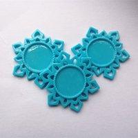 aqua bathroom set - Aqua Resin Snowflake Base Setting Aqua MM Flatback Planar Settings Fit for MM Round Glass Cabochons