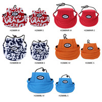 adorable small dogs - Fashion Adorable Dog Visor Breathable Fabric Comfortable Baseball Hat Pet Products Sun Hat Cute Sun Cap with Ear Holes H15669