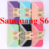 Cheap For Iphone 6 case Galaxy S6 Note 4 Iphone 6 plus Lace cases Wallet PU Leather Case Cover Pouch with Card Slot Photo Female For iPhone 5 5S