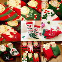 cheap socks - One Pairs Christmas Socks Warm Coral Fleece Thick Socks Cheap Cartoon Kids New Year s Gifts Household Room Socks
