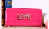 china direct - Candy Color Wallets China Factory Direct Long Design Fashion Leather Wallet Women Coin Purse Bag Daily Life Credit Holder Wallet Zipper Case
