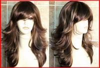 blonde human hair wigs - Stunning Tone Tappered Brown Blonde Lady Wig Vogue UK ladies wig human hair wigs