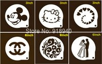 bakery cake mix - 6Shapes Mix Arcylic Plastic Sugar Icing Sieve Mode Baking Tiramisu Stencils For Cake Bakery Pastry Coffee Tools