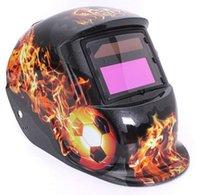Wholesale Welding Helmet Mask Solar Auto Darkening Welding Helmet Arc Tig Mig Mask Weld Welder Lens Grinding Mask Fire Football
