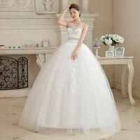 Wholesale 2015 Hot Sale Sweetange Korean Style Sweet Romantic Lace Princess V neck Wedding Dress
