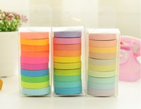 washi tapes - New high quality bright candy solid color washi masking tape washi tape paper tape