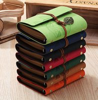 journal and notebook - Leather Journal Vintage Diary notebook paper retro Spiral notebook A6 Office School supplies Noteboks and Journals