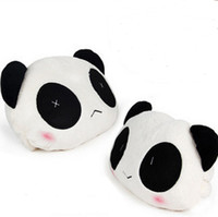 Wholesale The New Factory Direct selling cute panda plush headrest headrest car supplies Jushi supplies set