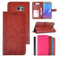 Cheap For Galaxy Note 5 4 3 Wallet PU Leather Case Kickstand Cover with Photo Frame for Samsung Galaxy N9200 N9100 N9006