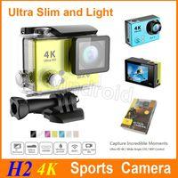 Nouvelle vidéo ultra HD 4K 170 degrés grand angle caméra sports étanche 30m 2 pouces 1080p 60fps action caméra H2 slim HDMI wifi DHL