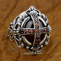 Cheap 925 Sterling Silver Best Goth Big Red CZ Ring