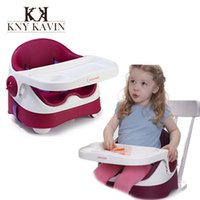 Wholesale High Quality Brand baby chair Luxury purple PU baby chair cushions booster seat high chair for feeding baby chairs dining HK460