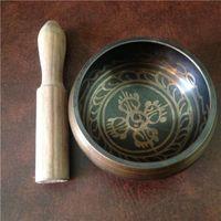 Wholesale Tibetan Jewelry Handmade Bronze Buddhism Words Mantra cm Singing Bowl