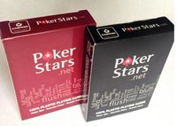 Wholesale Fedex free New arrival Red And Black Waterproof Plastic Playing Cards ABS Texas Poker Stars Sport Card Games