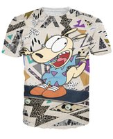 australian tee shirts - d women men Rocko s Modern Life T Shirt Popular cartoon Australian wallaby Rocko t shirt s fashion summer tee