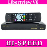 digital satellite receiver tv receiver - 20PCS Original libertview V8 SKYBOX V8 Digital Satellite Receiver Support WEB TV xUSB USBWifi G Youtube Youporn CCCAMD NEWCA openbox v8s