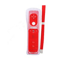 Wholesale Standard Edition Remote Controller Remote Controller with Motion Plus in for Wii Game Color White Black Pink Blue Red
