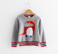 animal costume pattern - 2015 Autumn Winter Hot Sale Fashion Boys Pullovers Cartoon Pattern Knitted Sweaters For Kids Fashion Round Collar Children Costume CR258