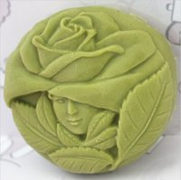 Wholesale Soap Mold Handmade Soap Mold Silicone Mold Soap Die Silica Gel Soap Die Rose Girl
