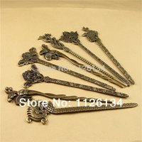 Wholesale 7 Mixed Shape Zinc Alloy Antique Bronze Plated Fashion Bookmark Fit Beading Jewelry Making