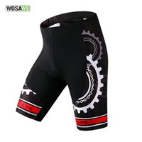 Wholesale WOSAWE Elastic Spandex Men s Cycling Shorts Gel Padded Bicycle Half Breeches Downhill Biking Riding Shorts Culotte Ciclismo