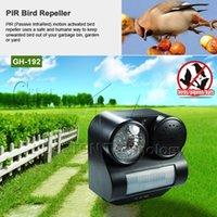 venda por atacado ultrasonic sensor-PIR Infrared Sensor de Movimento Bats ativados Birds Pigeon Repeller Repelente Ultrasonic Wave Sound Gunshot Lanterna 80Square.M
